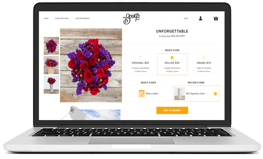 SHOW YOUR FLORAL ARTISTRY SKILLS AND TAKE YOUR BUSINESS ONLINE floristry ui/ux