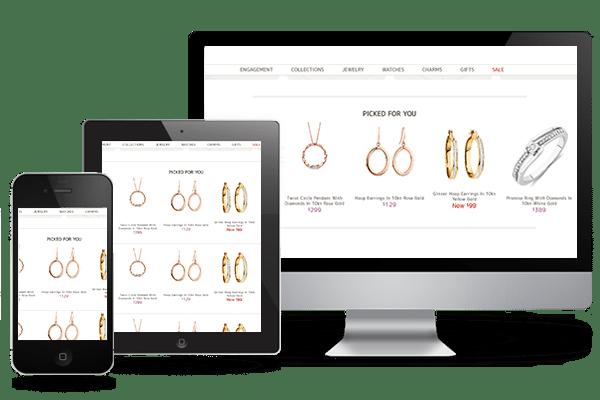 jewelry mobile ui/ux