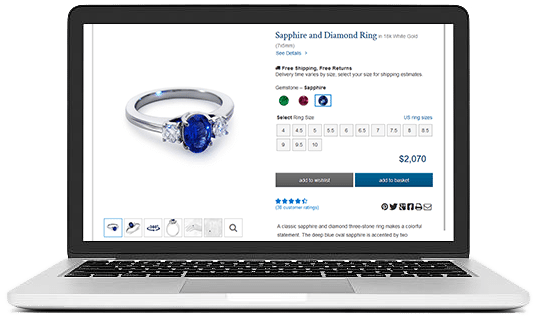 SHINE ON INTERNET WITHYOUR ALLURING JEWELRY WEBSITE DESIGN jewelry ui/ux