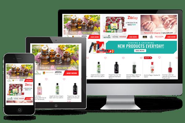 health & beauty mobile ui/ux
